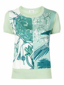Salvatore Ferragamo short sleeved printed T-shirt - Green