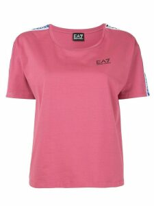 Ea7 Emporio Armani logo-tape T-shirt - PINK