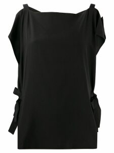McQ Alexander McQueen silk cold shoulder blouse - Black