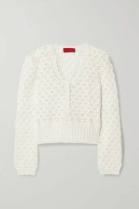 Commission - Crocheted Cotton Sweater - Ivory