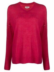 Isabel Marant Étoile oversized v-neck jumper - PINK