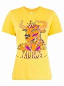 Alberta Ferretti Taurus print T-shirt - Yellow