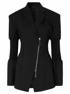Burberry knitted panels single-breasted blazer - Black