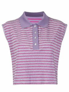 Mm6 Maison Margiela sleeveless polo shirt - PURPLE