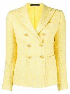 Tagliatore tweed check jacket - Yellow