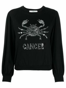 Alberta Ferretti Cancer embellished long sleeve top - Black