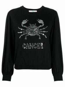 Alberta Ferretti Cancer embellished long sleeve top - Black