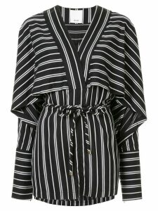 Acler Cresler striped relaxed-fit blouse - Black