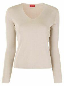 Des Prés V-neck silk pullover - Brown