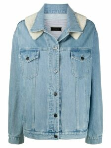 Simonetta Ravizza contrast-panel denim jacket - Blue