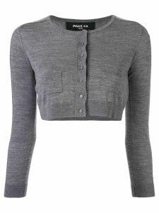 Paule Ka cropped round-neck cardigan - Grey