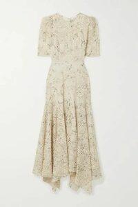 Veronica Beard - Balsam Floral-print Broderie Anglaise Chiffon Dress - Cream