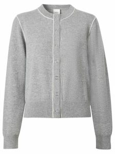 Burberry monogram motif cashmere cardigan - Grey