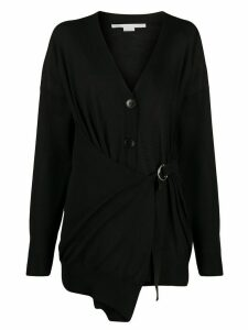 Stella McCartney wrap-style buckle-strap cardigan - Black