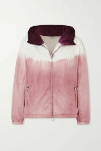 Moncler - Tie-dyed Hooded Nylon Jacket - Pink