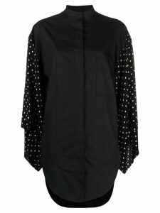 Haider Ackermann polka-dot sleeve shirt - Black