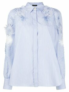 Versace Jungle appliqué striped shirt - Blue