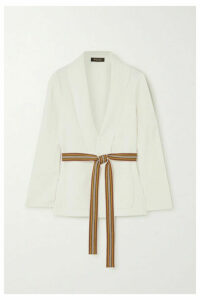 Loro Piana - Belted Silk And Cotton-blend Cardigan - Ivory
