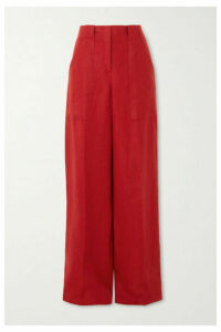 Loro Piana - Linen Wide-leg Pants - Red