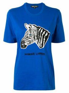 Markus Lupfer sequin zebra T-shirt - Blue