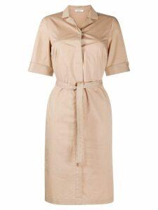 Peserico tie-waist shirt dress - NEUTRALS