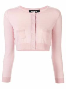 Paule Ka cropped knitted cardigan - PINK