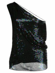 Cushnie one-shoulder fitted top - Black