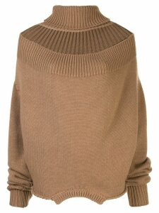 Monse cutout turtleneck jumper - Brown