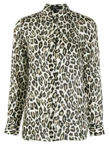 Theory silk leopard print blouse - NEUTRALS