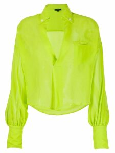 Jejia silk long sleeve blouse - Green