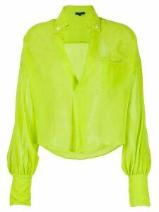Jejia silk long sleeve blouse - Green