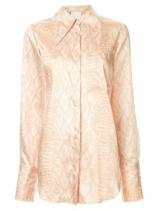 Acler Haslam long sleeve blouse - Brown