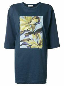 G.V.G.V. floral print oversized T-shirt - Blue