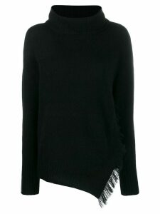 3.1 Phillip Lim Fringe Overlap Sweater - Black