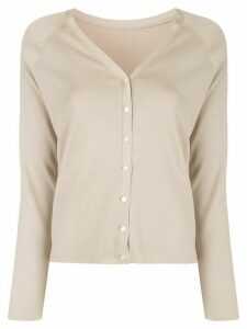 Des Prés raglan-sleeves silk cardigan - NEUTRALS