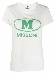 M Missoni logo print T-shirt - White