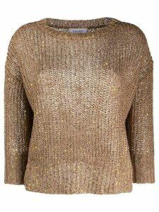 Snobby Sheep long sleeve chunky knit jumper - Brown