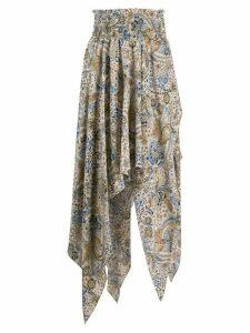 Redemption silk paisley print skirt - NEUTRALS