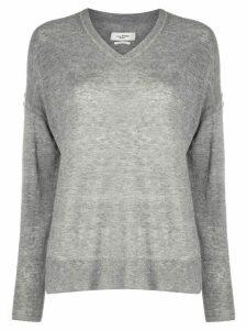 Etoile v-neck knitted jumper - Grey