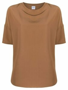 Aspesi oversized silk blouse - Brown
