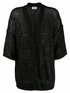 Snobby Sheep sequin embroidered cardigan - Black