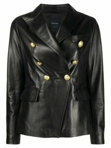 Tagliatore fitted double-breasted blazer - Black
