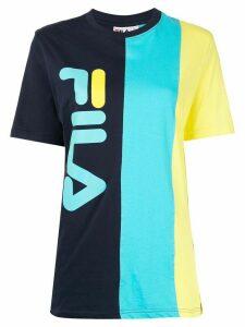 Fila logo-print crew neck T-shirt - Blue