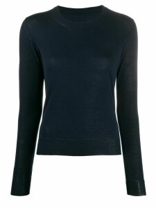 Maison Margiela piped trim fine knit jumper - Blue