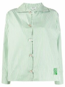 Kenzo embroidered logo striped shirt - White