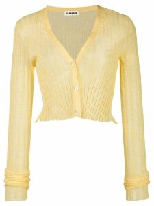 Jil Sander semi-sheer cropped cardigan - Yellow