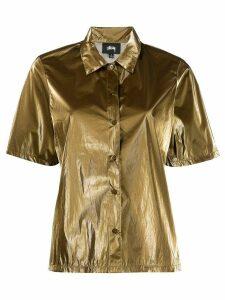 Stussy metallized short-sleeved shirt - Brown