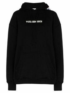Vetements logo-print hoodie - Black