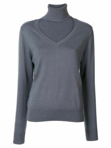 G.V.G.V. cut-out high-neck jumper - Grey