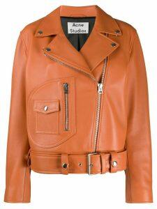 Acne Studios New Merlyn biker jacket - ORANGE